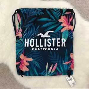 Hollister Tropical Cinch Draw String Back Pack